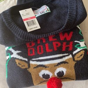 """Take 50% off!!🌺Ugly Sweater """"Brewdolph Rein Beer"""""""